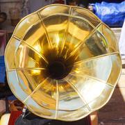 Speaker horn at antique vintage gramophone Kuvituskuvat