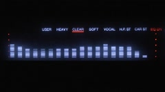Sound To Light Graphic Equalizer Stock Footage