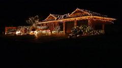 Christmas Lights Display on House Stock Footage