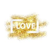 Love with frame Stock Illustration