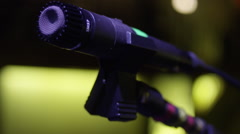 Stage Microphone Close Up Stock Footage