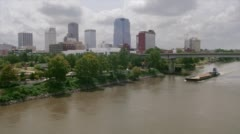 Little Rock Arkansas city & river - stock footage