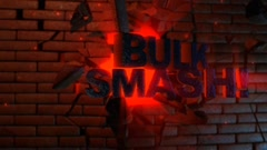 Bulk Smash! - Explosive Text Through Wall Logo Stinger - stock after effects