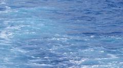 Blue rough sea - stock footage