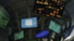 Defocused fast monitors - stock footage