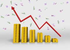 chart of gold bullion - stock photo
