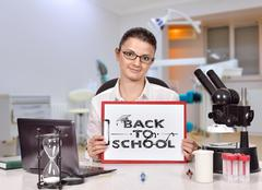 Clipboard with back to school Stock Photos