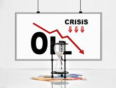 Statistics collapse in oil prices - stock photo