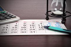business calendar - stock photo