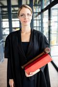 Female lawyer wears glasses Stock Photos