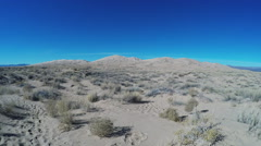 Wide Shot Kelso Dunes In Mojave Desert With Slow Zoom Stock Footage