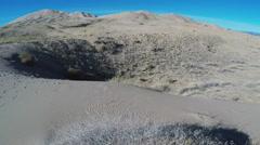Mojave Desert Kelso Sand Dunes Tilt Up Stock Footage