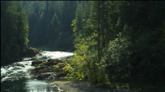 North Umpqua River Canyon, Oregon Stock Footage