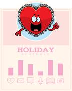 Cartoon Valentine Graphic - stock illustration