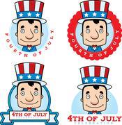 Stock Illustration of Cartoon Patriotic Man Graphic