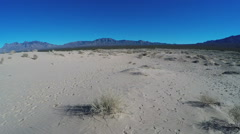Panoramic View Of Mojave Desert Kelso Sand Dunes Stock Footage