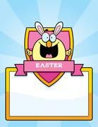 Cartoon Easter Chick Graphic - stock illustration