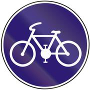 Road sign used in Slovakia - Bike path Stock Illustration
