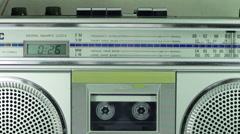 Vintage Cassette Player - stock footage