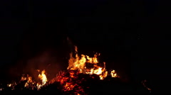 A burst coming from the fire in the area Stock Footage