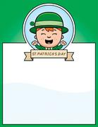Cartoon Leprechaun Boy Graphic - stock illustration