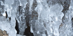 Close-up of dripping icicles Stock Footage