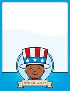 Cartoon Patriotic Boy Graphic - stock illustration