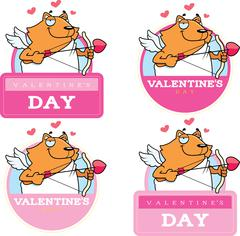 Stock Illustration of Cartoon Cat Cupid Graphic