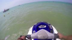 Jetski Waverunner Pov, 4k Stock Footage