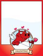 Stock Illustration of Cartoon Devil Cupid Graphic