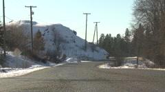 Transportation, Semi truck slow curve, narrow rural road, traffic - stock footage