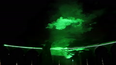 Magical green light at the yard in Versaille - stock footage