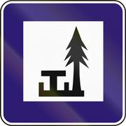 Stock Illustration of Road sign used in Slovakia - Picnic area