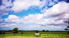 Time lapse of cloudy sky in tropical climate - stock footage