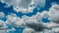 Stock Video Footage of Time lapse of tropical weather cloudscape