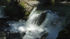 Close view of a waterfall in the Rogue River Gorge, Oregon Stock Footage