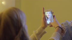 Teen Takes A Photo Of Her Friend, She Zooms In For A Close Up, Super Funny Stock Footage