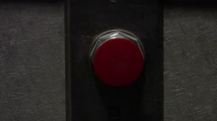 Red Emergency Button Stock Footage