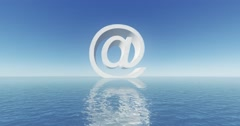 4k at sign email symbol,web tech. Stock Footage