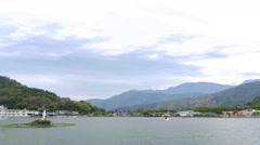 4K timelapse, beautiful Li Yu Lake at Nantou Stock Footage
