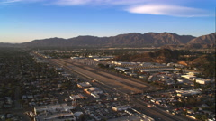 Overhead view of Whiteman Airport in California. Shot in 2010. Stock Footage