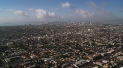 Flying over Los Angeles toward the harbor. Shot in 2010. Stock Footage