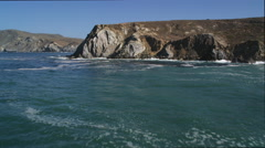 Past cliffs on the Catalina coastline. Shot in 2010. - stock footage