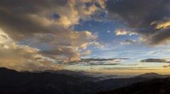 4K timelapse of Hehuanshan, sunset Stock Footage