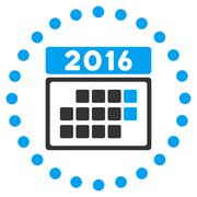 2016 Month Appointment Icon - stock illustration