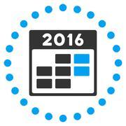 2016 Month Organizer Icon - stock illustration