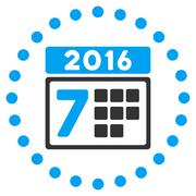 Stock Illustration of 2016 Week Appointment Icon