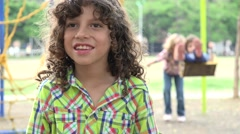 Young Boy with Learning Disability Stock Footage