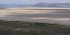 Slow pan along length of Alvord Desert in Eastern Oregon Stock Footage