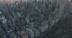 Aerial of South Central Park, Upper East Side, Upper West Side and Midtown Stock Footage